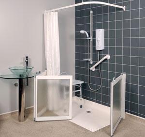 Box doccia per disabili e portatori di handicap Torino