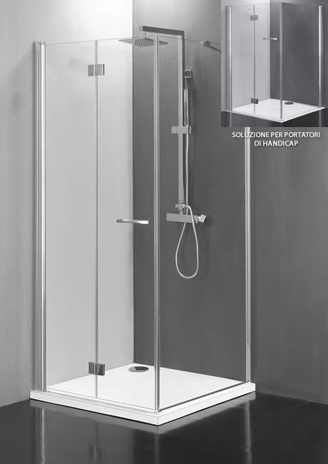 Box a scomparsa e per disabili box doccia modello joaquin for Costo aggiuntivo per due garage